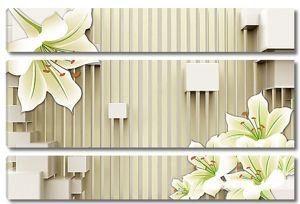 Лилии на полосатом фоне