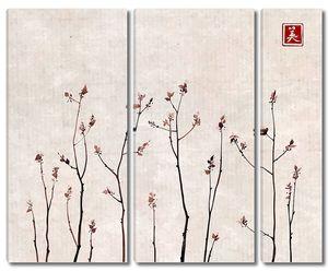 Ветви деревьев в китайском стиле