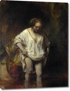 Рембрандт. Женщина, купающаяся в потоке