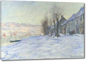 Моне Клод. Солнце и снег, 1881
