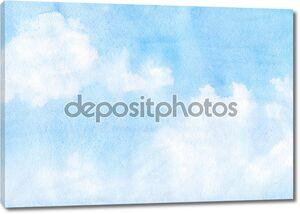 Небесный фон акварелью