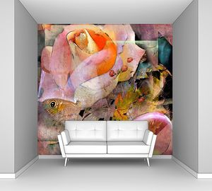 Яркая абстракция с цветами
