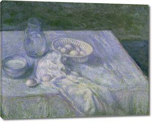 Моне Клод. Натюрморт с яйцами в голубом, 1907