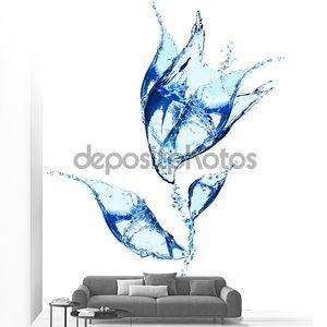 Цветок из брызги воды