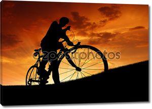 силуэт велосипедиста