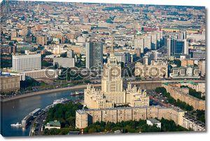 Дневное время аэрофотосъемка Москвы, Россия