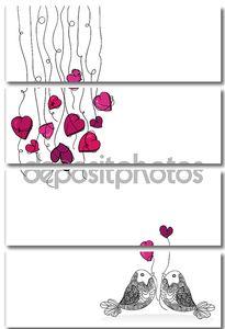 Валентина птица любви изолированные