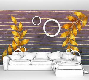 Ветви с листьями и кругами