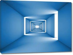абстрактный тоннель синий