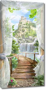 Выход с террасы к водопадам