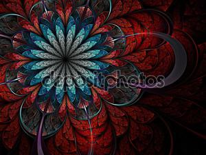 Красочные Фрактальный цветок
