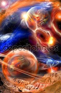 Нереальный космический пейзаж