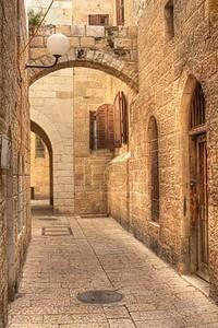 Старая улица в Иерусалиме, Израиль