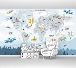 Карта с самолетами и ракетами