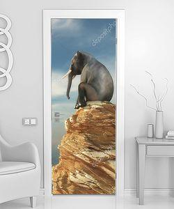 Слон на утесе