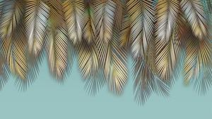 Свисающие перьевые листья