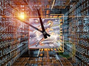 Часы в цифровой матрице