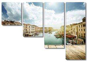 Венеция, Италия и деревянные поверхности