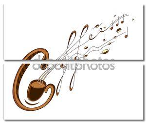 кофе и музыки надписи