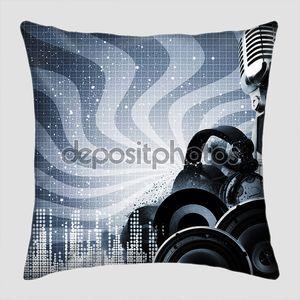 Абстрактный DJ фон с копией пространства для вашего дизайна