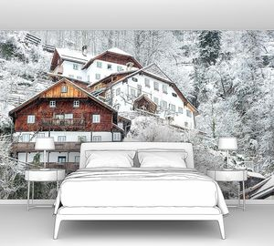 Дома в горах Альп
