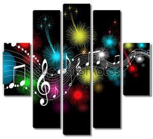 Музыкальные ноты как фонарики