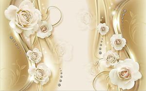 Розы со стразиками