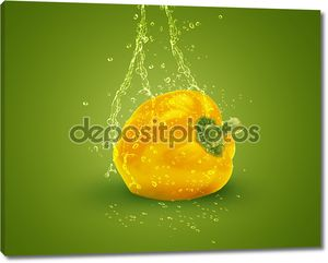 Свежий желтый сладкий перец
