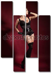 Сексуальная блондинка cabaert танцовщица танцы. Танцовщица в карнавал платье. Очаровательные девушки с ретро макияж и прическа
