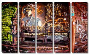 Бруклин Нью-Йорке граффити