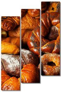 Разнообразные хлеба и булочки