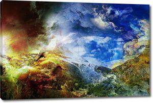 Сюрреалистическое небо в горах