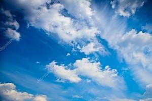Небесно-голубая абстракция