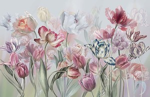 Акварель. Тюльпаны