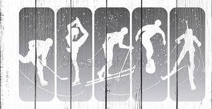 Зимние спортивные силуэты