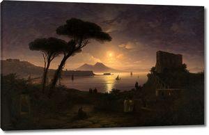 Айвазовский. Неаполитанский залив в лунную ночь