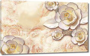 Розы с серебряной каймой