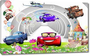 Машинки в арочном тоннеле