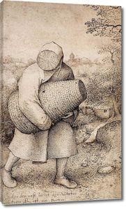 Брейгель Рисунок. Пчеловоды.Фрагмент1