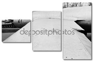 крыло старый русский военный самолет МиГ-15