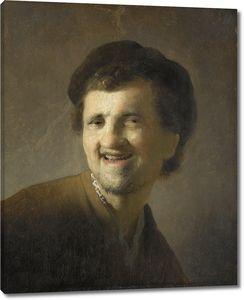 Рембрандт. Портрет смеющегося молодого человека