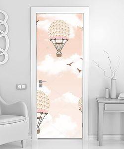 Розовые шары в розовом небе
