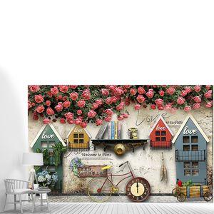 Винтажня композиция из домиков