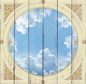 Небо в круге с узором