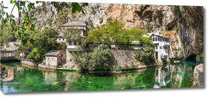 Монастырь под скалой в Боснии