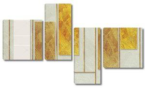 Золотое и серое прямоугольные стекла