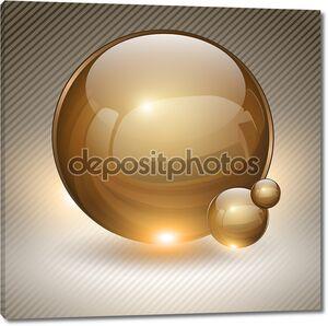 Золотой стеклянный шарик