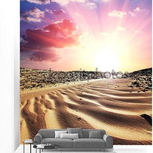 Пустыня на закате
