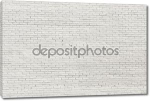 Белый кирпичная стена для фона или текстуры