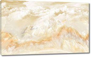 Пейзаж мраморный фон, облака, море